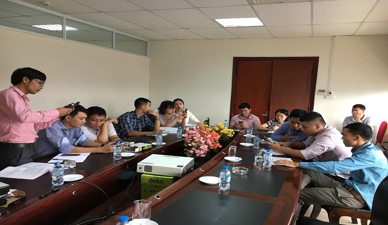 Tập huấn thiết bị phân tích chất lượng nước tại Cục quản lý tài nguyên nước